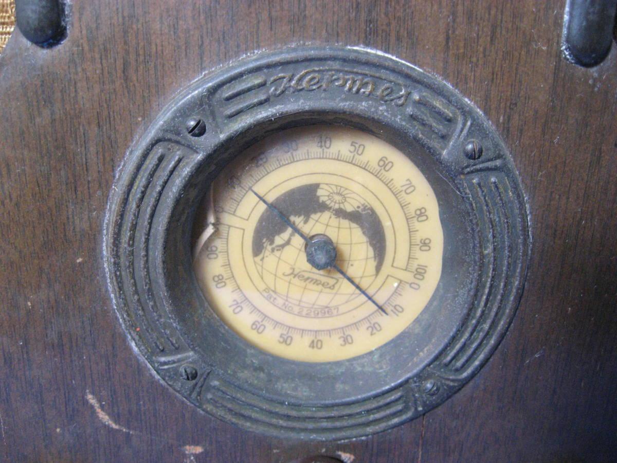 時代物、昭和初期、真空管式ラジオ、ヘルメス受信機、いい顔しています_画像4