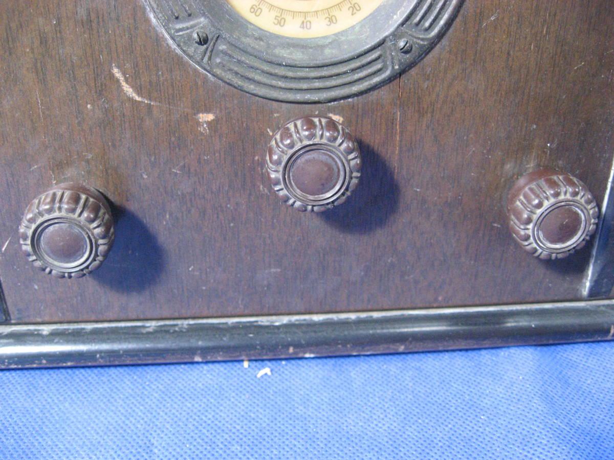 時代物、昭和初期、真空管式ラジオ、ヘルメス受信機、いい顔しています_画像5