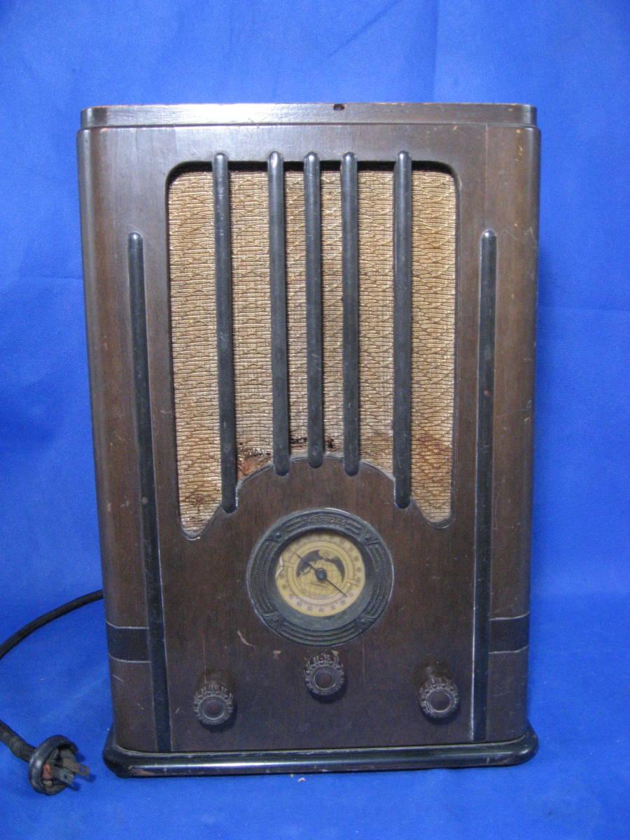 時代物、昭和初期、真空管式ラジオ、ヘルメス受信機、いい顔しています_画像1