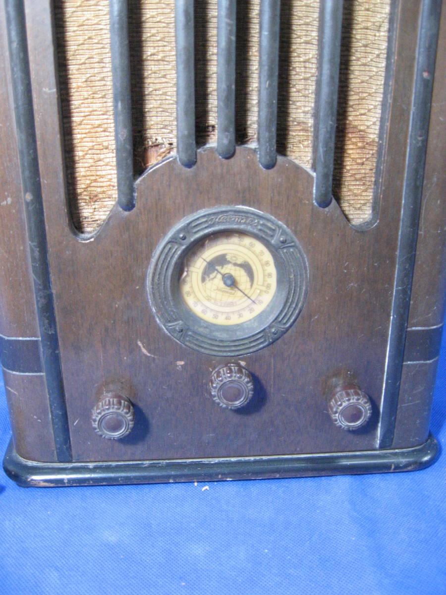 時代物、昭和初期、真空管式ラジオ、ヘルメス受信機、いい顔しています_画像3