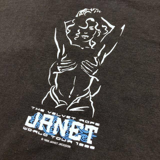 90s 1998 JANET JACKSON the velvet rope world tour オフィシャル Tシャツ L rap tee vintage ビンテージ jerry lorenzo fear of god_画像4