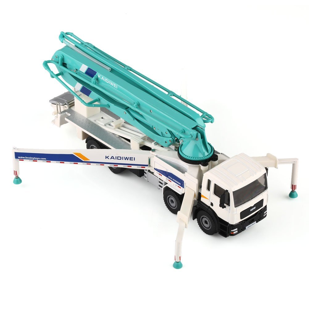 車模型 コンクリートポンプ車 重機 ポンプ車 高品質 1/55 スケール 合金製 モデルカー 工事車子供おもちゃ プレゼント建築模型 教育 写真に_画像3