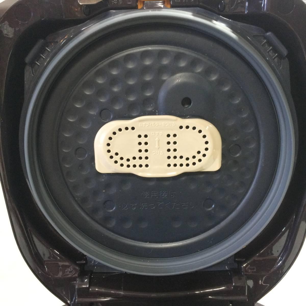 ZOJIRUSHI 象印 NP-ZF18-TD IHジャー 炊飯器 1升 1.8L 2017年製 【中古品】_画像7