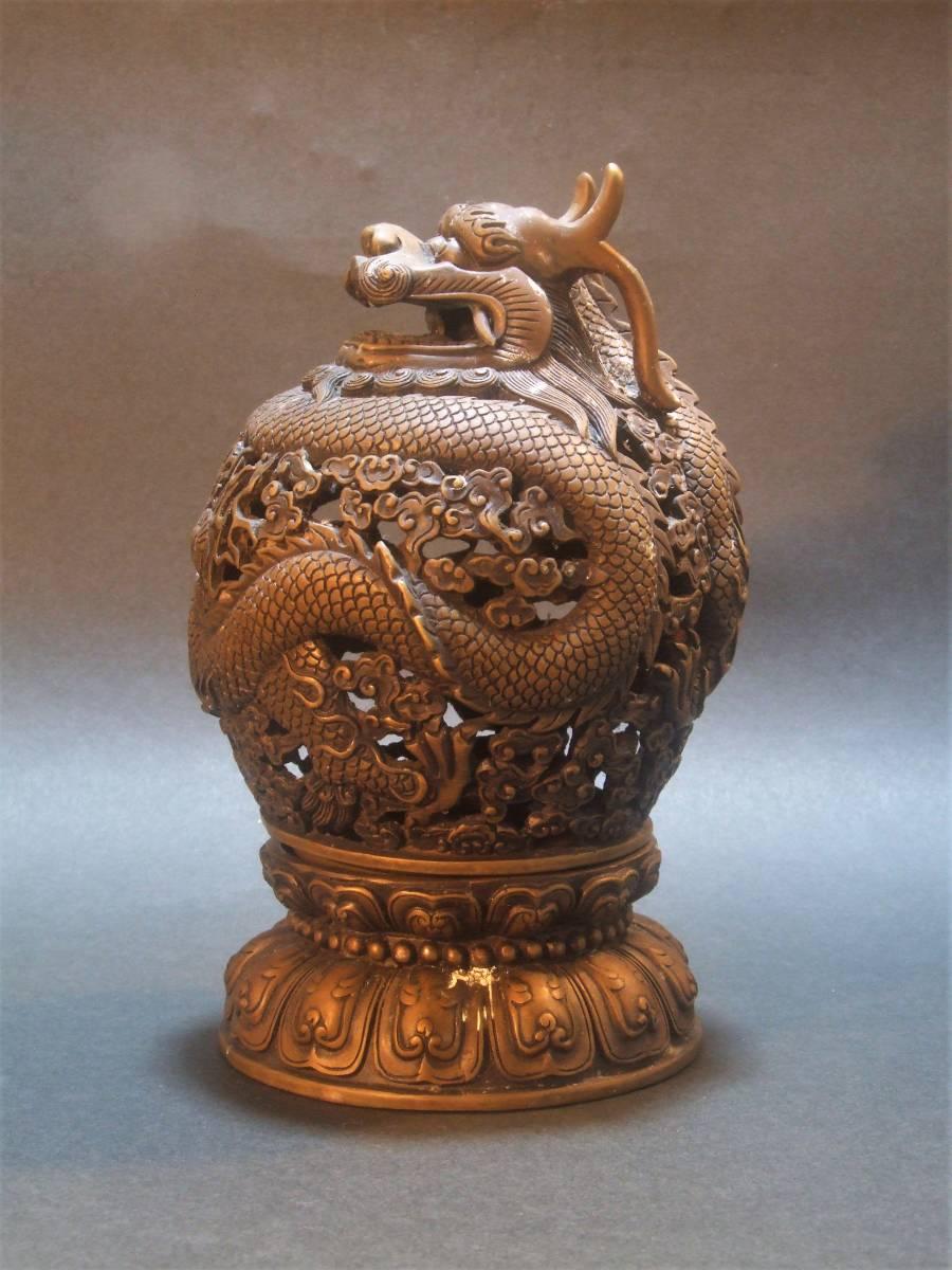 銅製 竜香炉_画像3