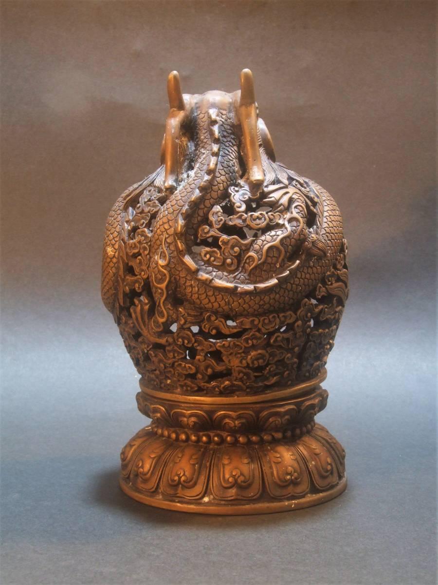 銅製 竜香炉_画像4