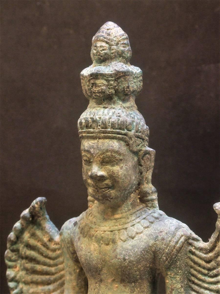 銅製 クメール 千手観音菩薩立像 年代物_画像1