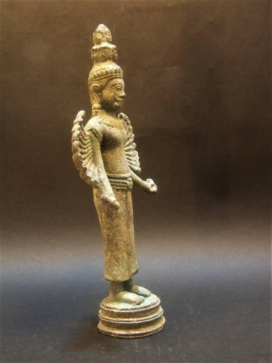 銅製 クメール 千手観音菩薩立像 年代物_画像4