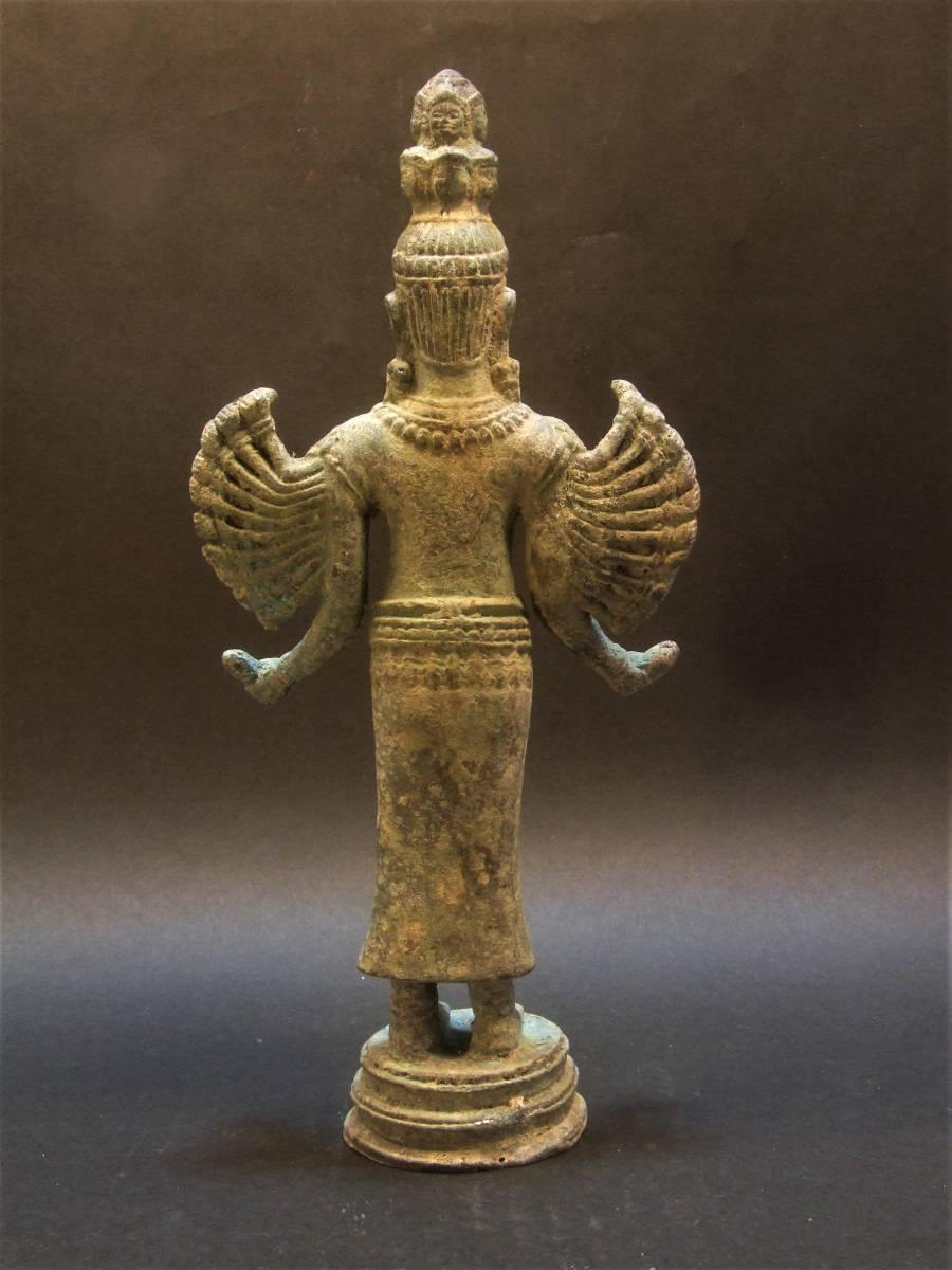 銅製 クメール 千手観音菩薩立像 年代物_画像5