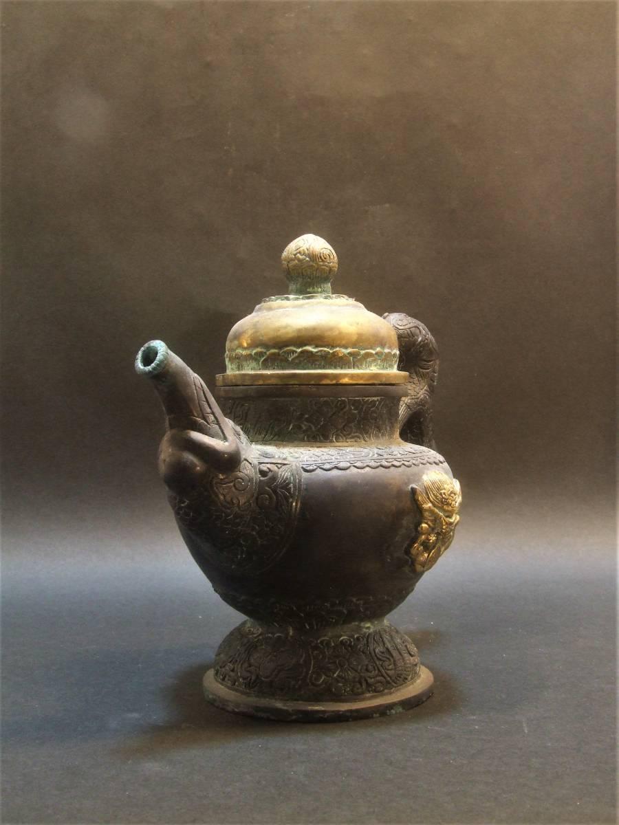 銅製 チベット酒器_画像3