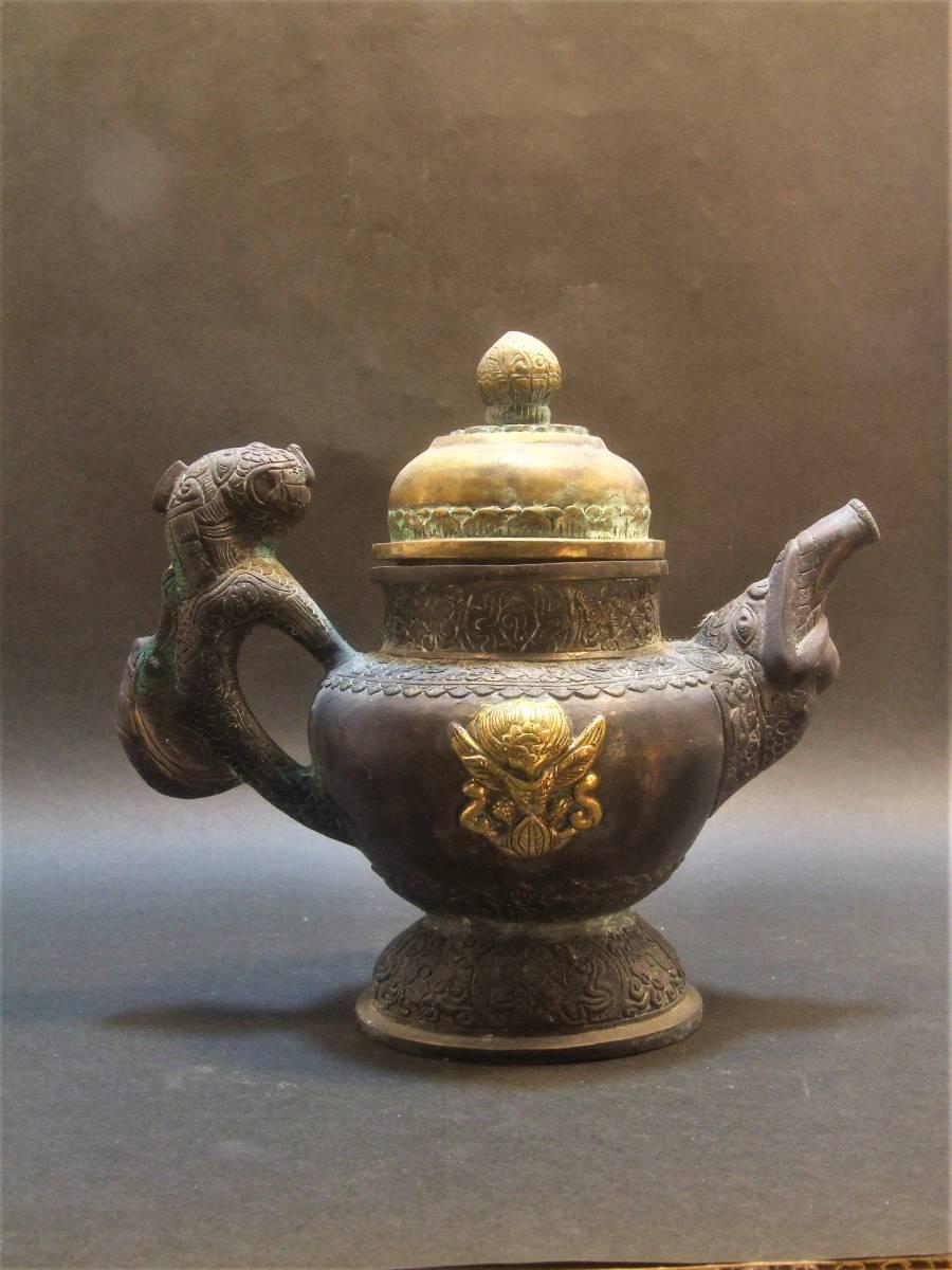 銅製 チベット酒器_画像4