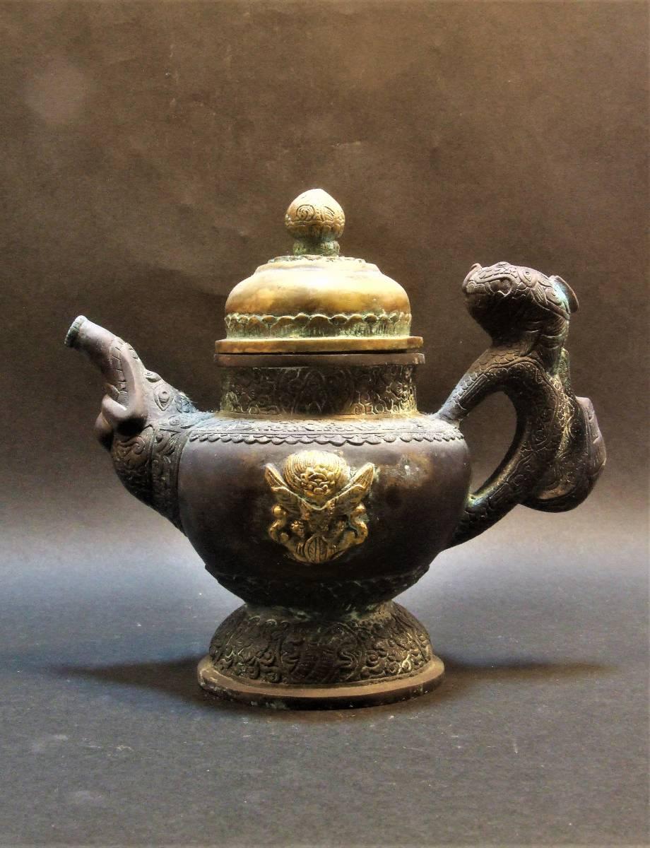 銅製 チベット酒器_画像1