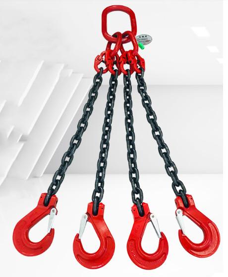 新品未使用スリング4本フック荷重5トンの合金鋼鍛造強力バックルクランプ長さ約150cm_画像5
