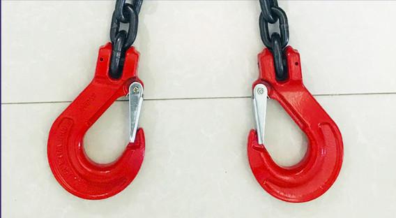新品未使用スリング4本フック荷重5トンの合金鋼鍛造強力バックルクランプ長さ約150cm_画像6
