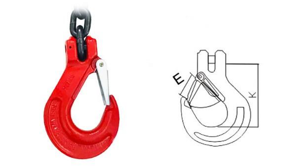 新品未使用スリング4本フック荷重5トンの合金鋼鍛造強力バックルクランプ長さ約150cm_画像9