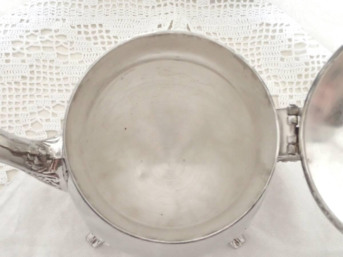 英国アンティーク EPNS A1 純銀P シルバー ヴィクトリアン 猫足 ティーポット イギリス製_画像9