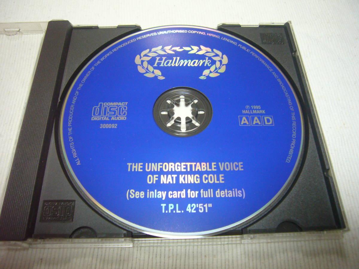 即落札 NAT KING COLE / The Unforgettable Voice of ナットキングコール / 全18曲_画像3