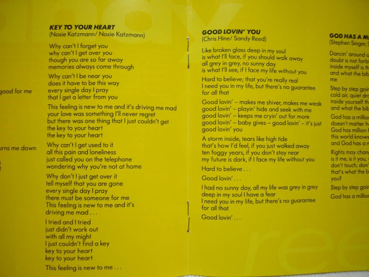 即落札 / sandy reed サンディ・リード / Ⅰ believe アイ・ビリーヴ / 国内盤全16曲 歌詞&訳詞カード付き!_画像4