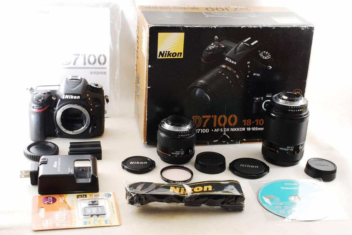 〓極美級〓 ニコン Nikon D7100 超望遠 Wレンズセット ★ ダブルレンズセット ♪