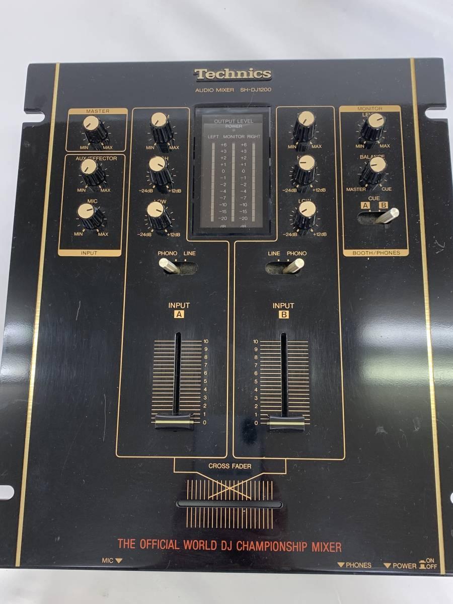 未確認● Technics テクニクス SH-DJ1200 オーディオミキサー〇fy_画像4