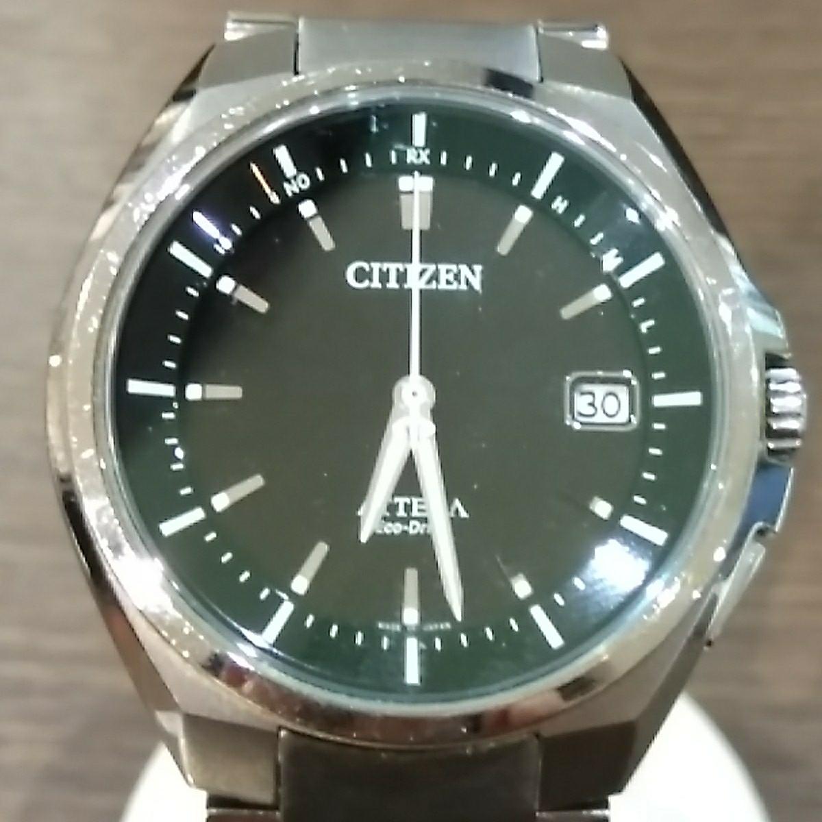 【ジャンク品(78)】CITIZEN シチズン ATTESA アテッサ Eco-Drive H110-TO16308 アナログ 3針 デイト ラジオコントロール