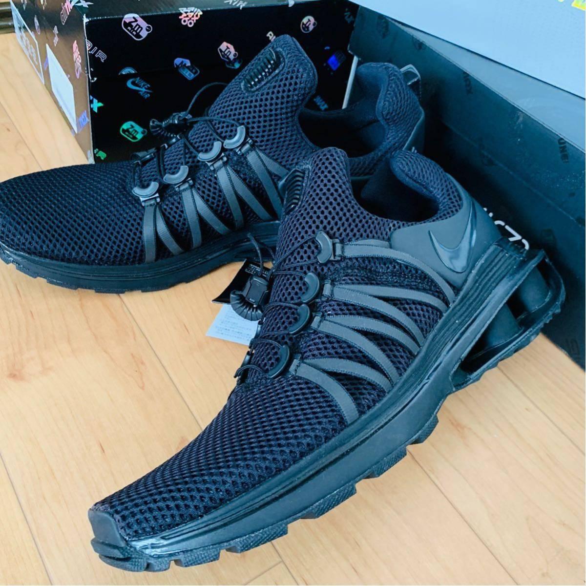 貴重な廃盤モデル!Nike SHOX Gravity 29cm ブラック ナイキ ショックス グラビティUSA エアマックス Vapormax 黒R4 Air Max ギャルソン