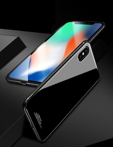 数量限定 耐衝撃TPUバンパー 背面ガラスプレート 高級 バンパー iPhone7/8 全面保護 耐衝撃 カバー 強化ガラスフィルム 赤 AHP32レッド8_画像9