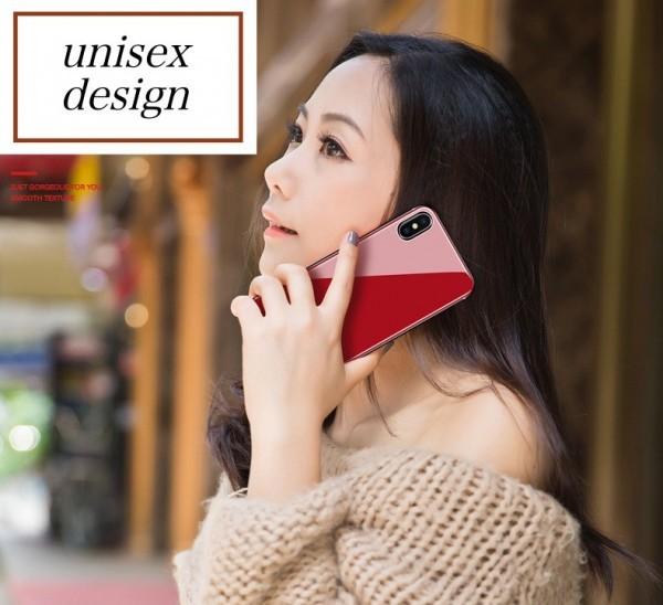数量限定 耐衝撃TPUバンパー 背面ガラスプレート 高級 バンパー iPhone7/8 全面保護 耐衝撃 カバー 強化ガラスフィルム 赤 AHP32レッド8_画像7