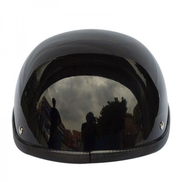 装飾用 ヘルメット ダックテール ハーフ 半ヘル 半帽 ジョッキー フリーサイズ ハーレー チョッパー 光沢 艶有り 黒 OM58ブラック_画像5
