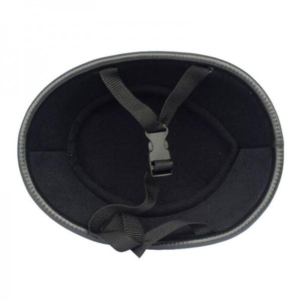 装飾用 ヘルメット ダックテール ハーフ 半ヘル 半帽 ジョッキー フリーサイズ ハーレー チョッパー 光沢 艶有り 黒 OM58ブラック_画像7
