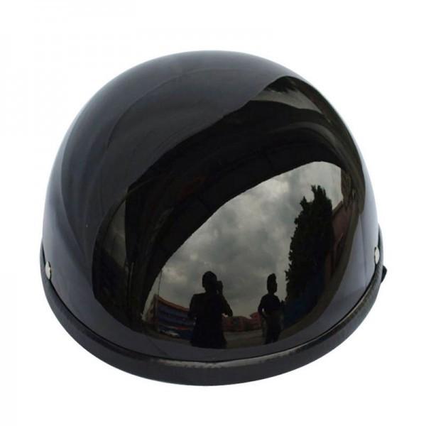装飾用 ヘルメット ダックテール ハーフ 半ヘル 半帽 ジョッキー フリーサイズ ハーレー チョッパー 光沢 艶有り 黒 OM58ブラック_画像4