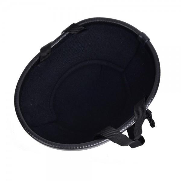装飾用 ヘルメット ダックテール ハーフ 半ヘル 半帽 ジョッキー フリーサイズ ハーレー チョッパー 光沢 艶有り 黒 OM58ブラック_画像6