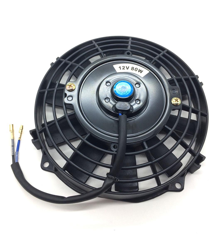12V 電動ファン ラジエターファン 7インチ プル式 プルタイプ 汎用 薄型 冷却用 クーラー ラジエーター ファン_画像2