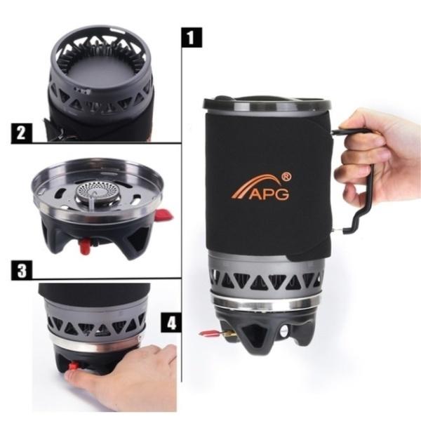 APG ジェットボイル型 湯沸し(ジェットボイル型ポータブルガスバーナー ) _画像5