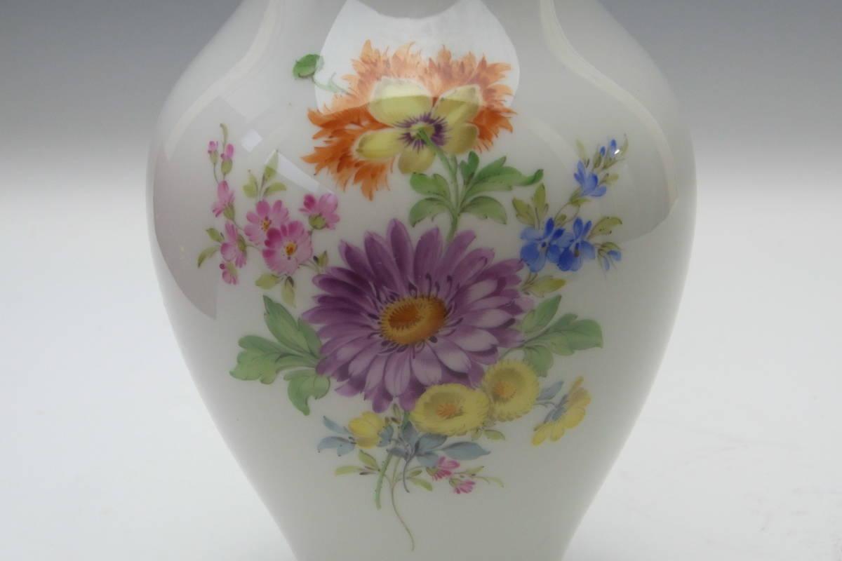 【27】Meissen マイセン 花瓶 共箱 蔵出品 初出し品 _画像4
