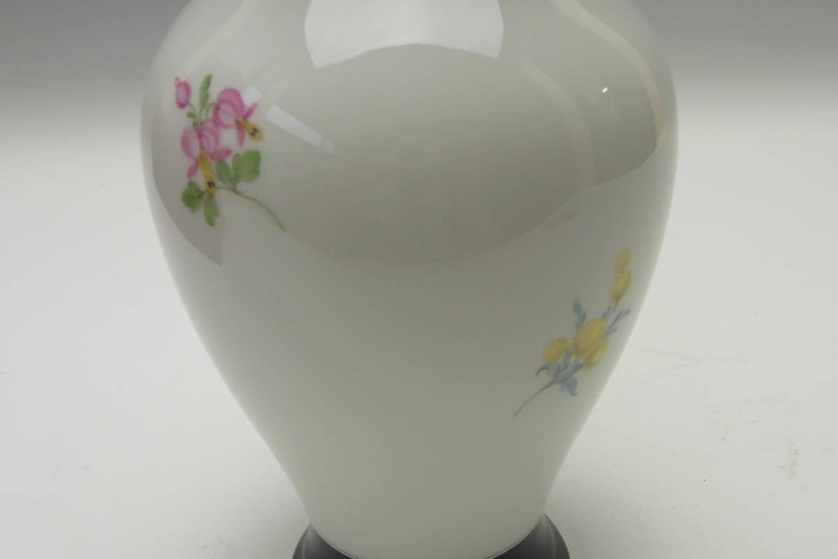 【27】Meissen マイセン 花瓶 共箱 蔵出品 初出し品 _画像5