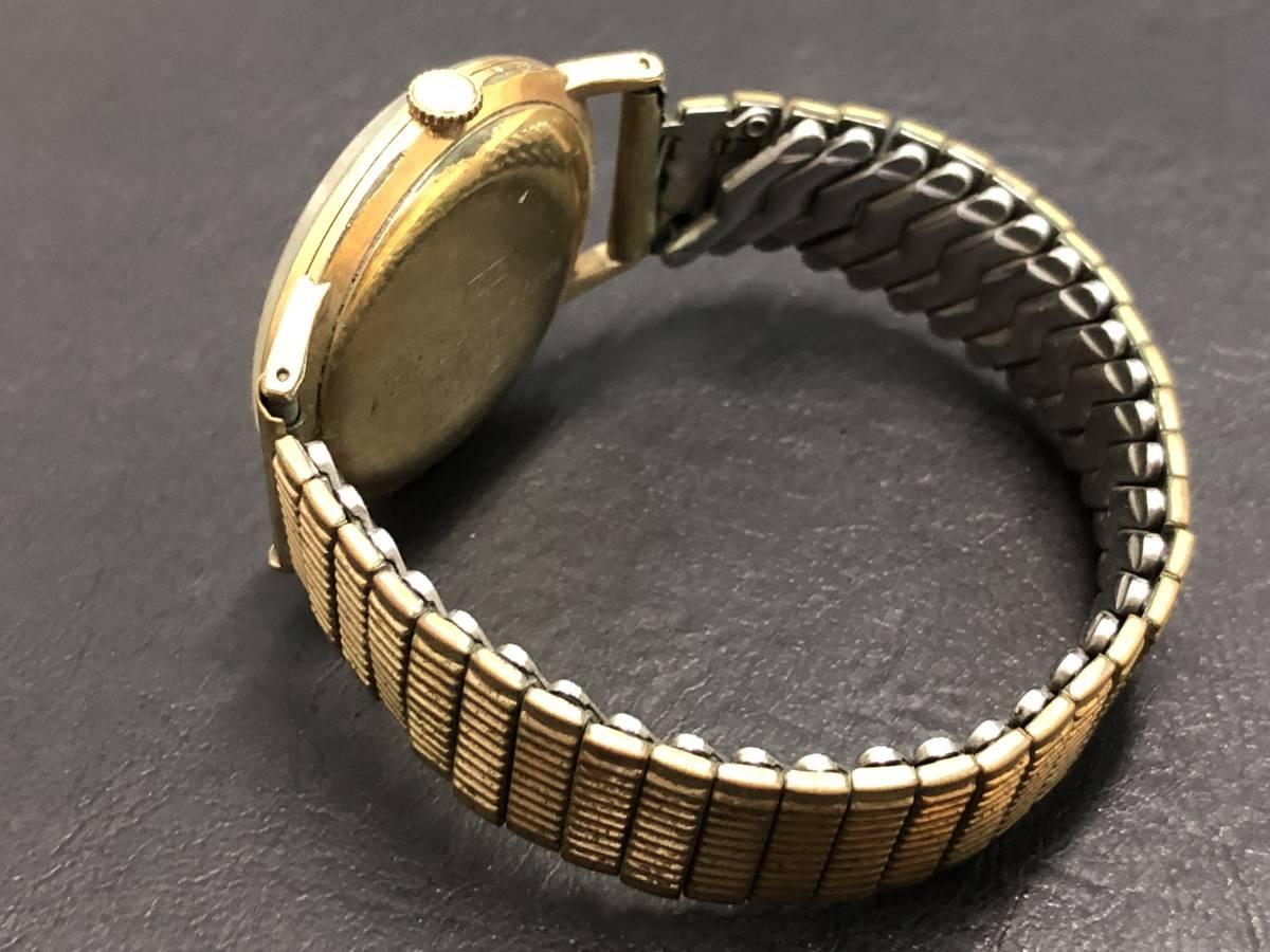 1円~ シチズン DELUXE 19石 腕時計 手巻き 14K張り ゴールド レディース CITIZEN _画像4