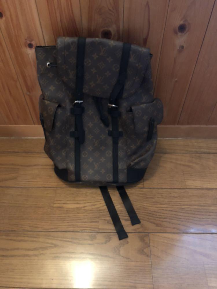 ルイヴィトン リュック バッグ クリストファー M43735 レザー モノグラム