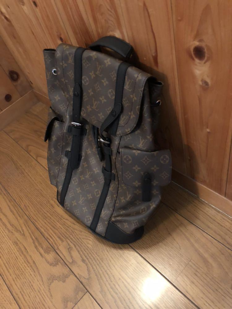 ルイヴィトン リュック バッグ クリストファー M43735 レザー モノグラム_画像4