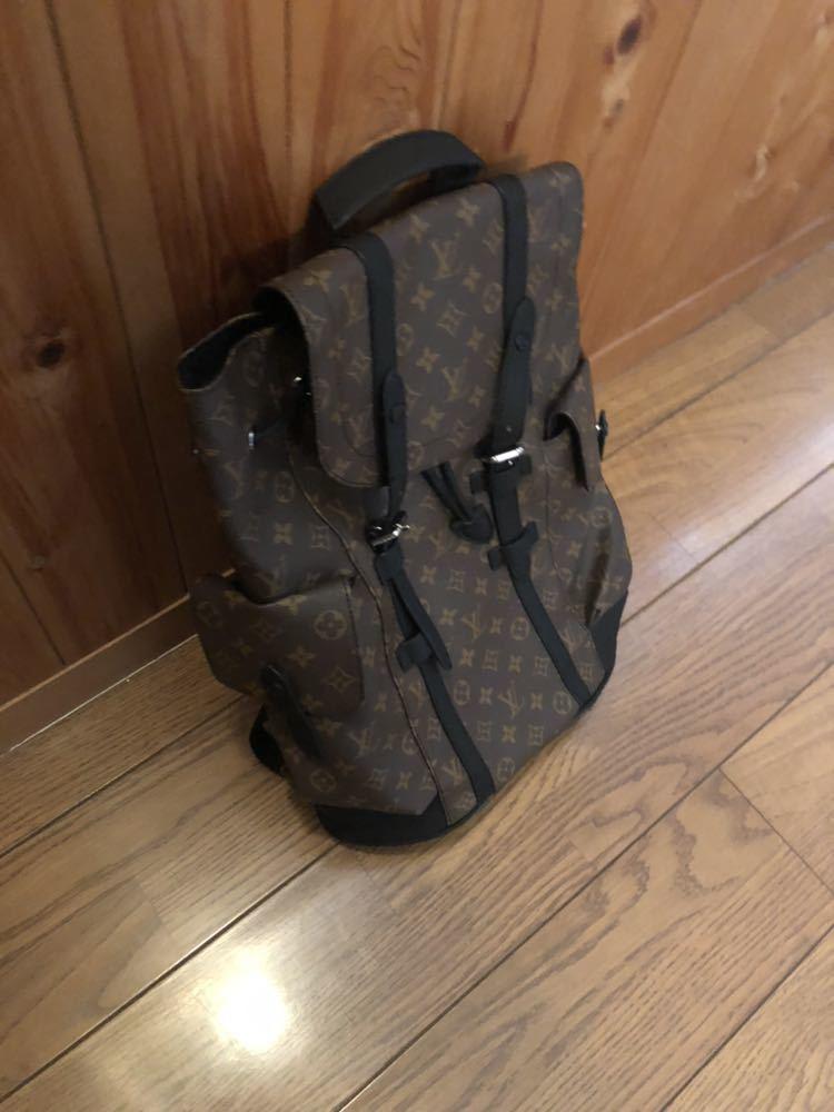 ルイヴィトン リュック バッグ クリストファー M43735 レザー モノグラム_画像3