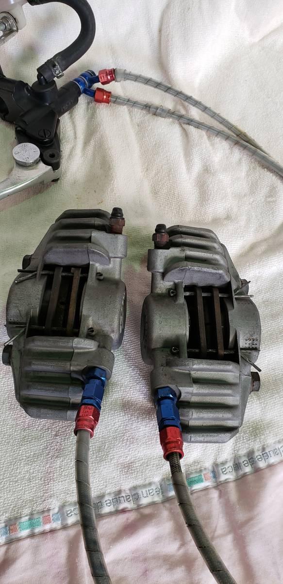 Z1 Z2 Z1R Z1000Mk2 KZ1000 Z900 Z750FX Z1000R Z系 APロッキード APレーシング フロント キャリパー CP2696 ニッシンマスター付_画像7