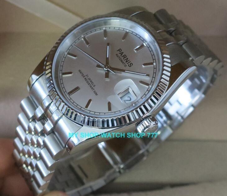 ★人気商品★ PARNIS パーニス サファイアクリスタル 36mm メンズ 腕時計 5Bar ビジネス オマージュ ウォッチ_画像3