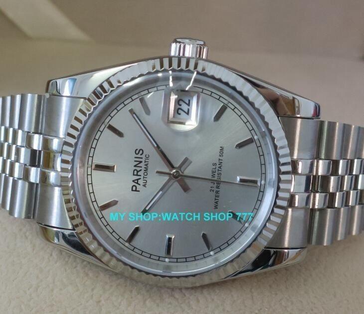 ★人気商品★ PARNIS パーニス サファイアクリスタル 36mm メンズ 腕時計 5Bar ビジネス オマージュ ウォッチ_画像2