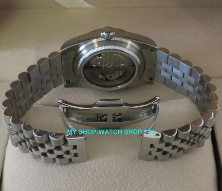 ★人気商品★ PARNIS パーニス サファイアクリスタル 36mm メンズ 腕時計 5Bar ビジネス オマージュ ウォッチ_画像5