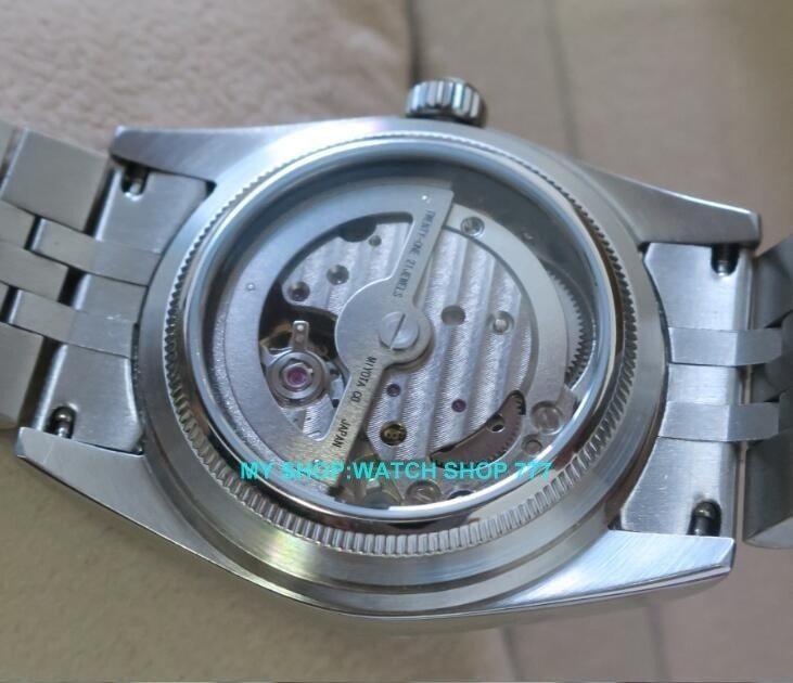 ★人気商品★ PARNIS パーニス サファイアクリスタル 36mm メンズ 腕時計 5Bar ビジネス オマージュ ウォッチ_画像4