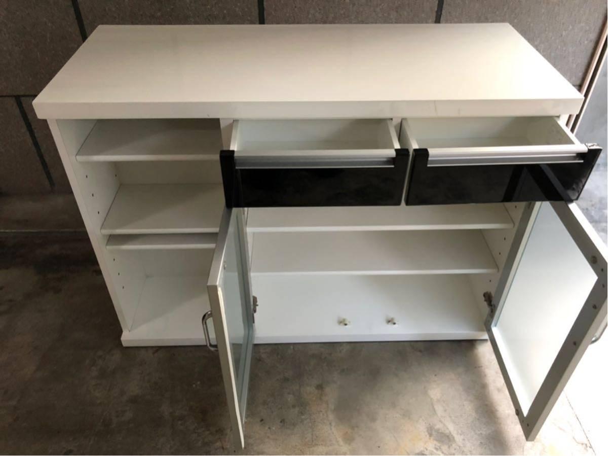 大特価【ニトリ】キッチンカウンター バーカウンター 収納家具 キッチンボード _画像2