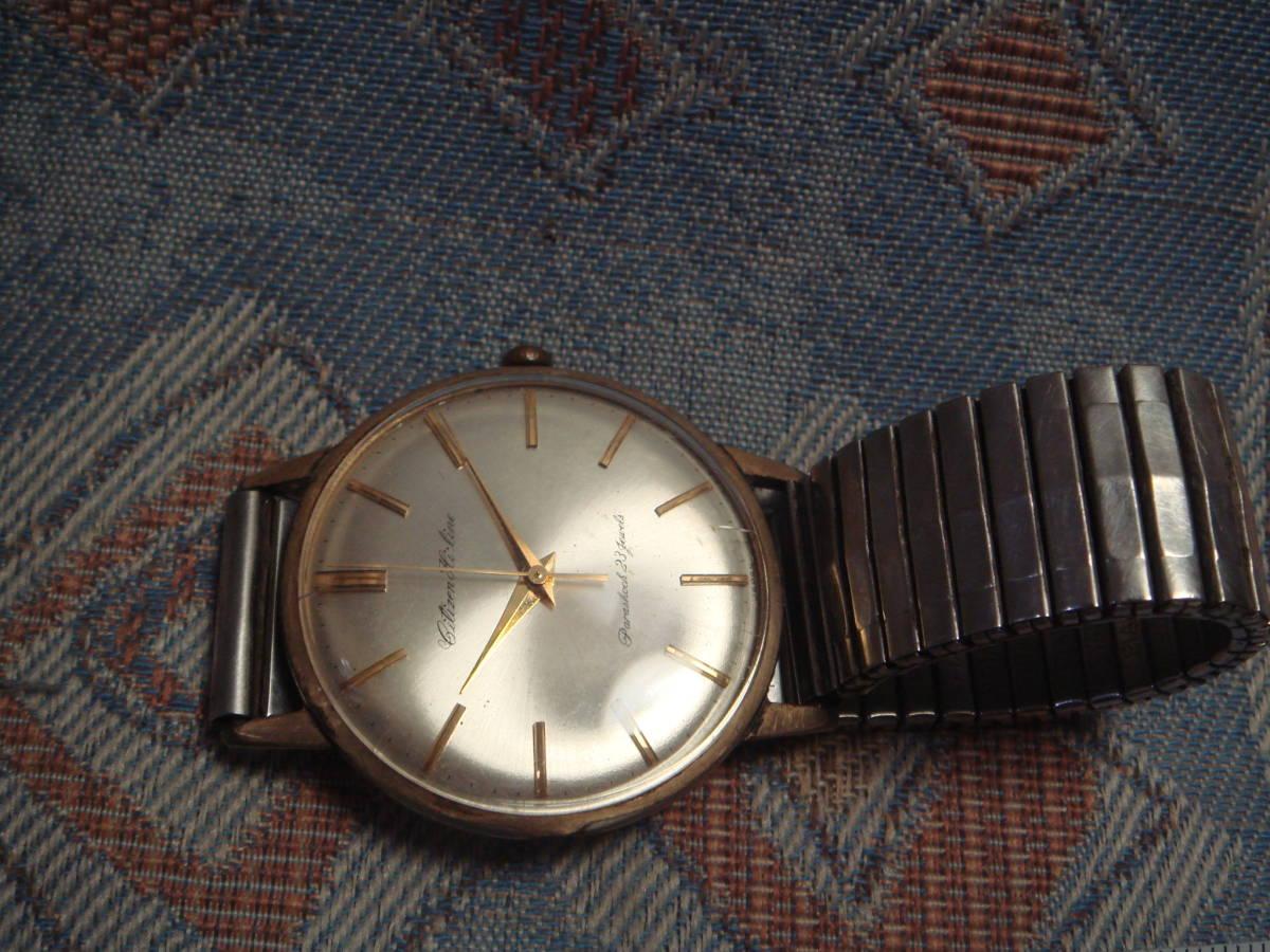 シチズン  ハイライン Parashock 23石 14K GOLD FILLED ジャンク! 手巻き メンズ 腕時計 CITIZEN _画像2