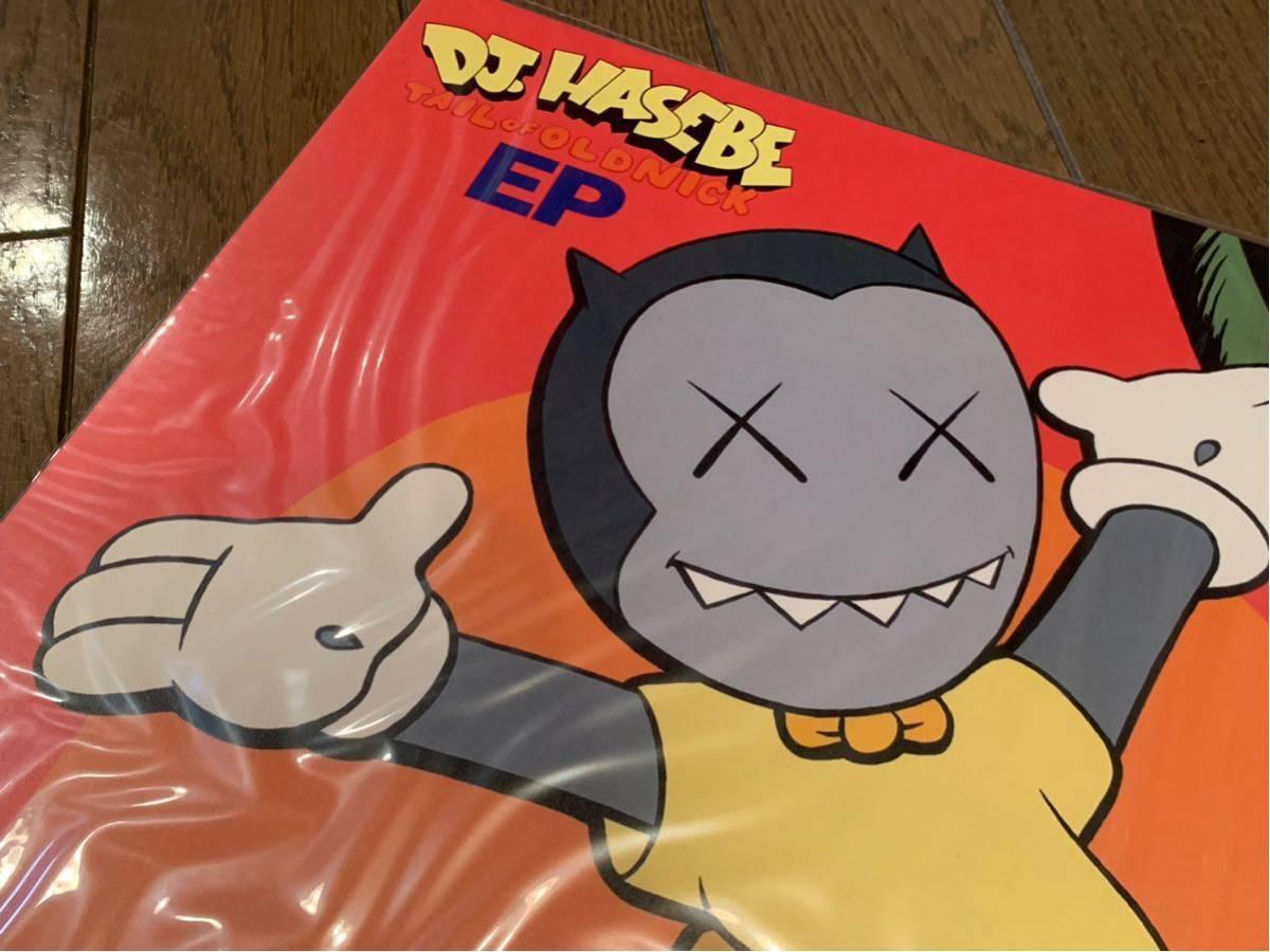 未使用 美品 DJ HASEBE - TAIL OF OLD NICK EP KAWSジャケット & オフィシャルポスター KAWS レア 希少 レコード_画像6