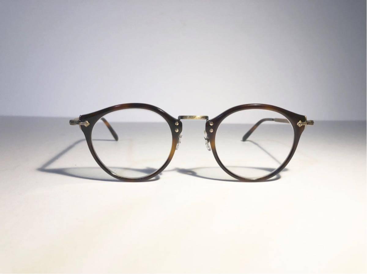 美品 正規OLIVER PEOPLEオリバーピープルズ OP-505 DM Limited Edition 雅 デミブラウン ボストン メガネ 丸眼鏡