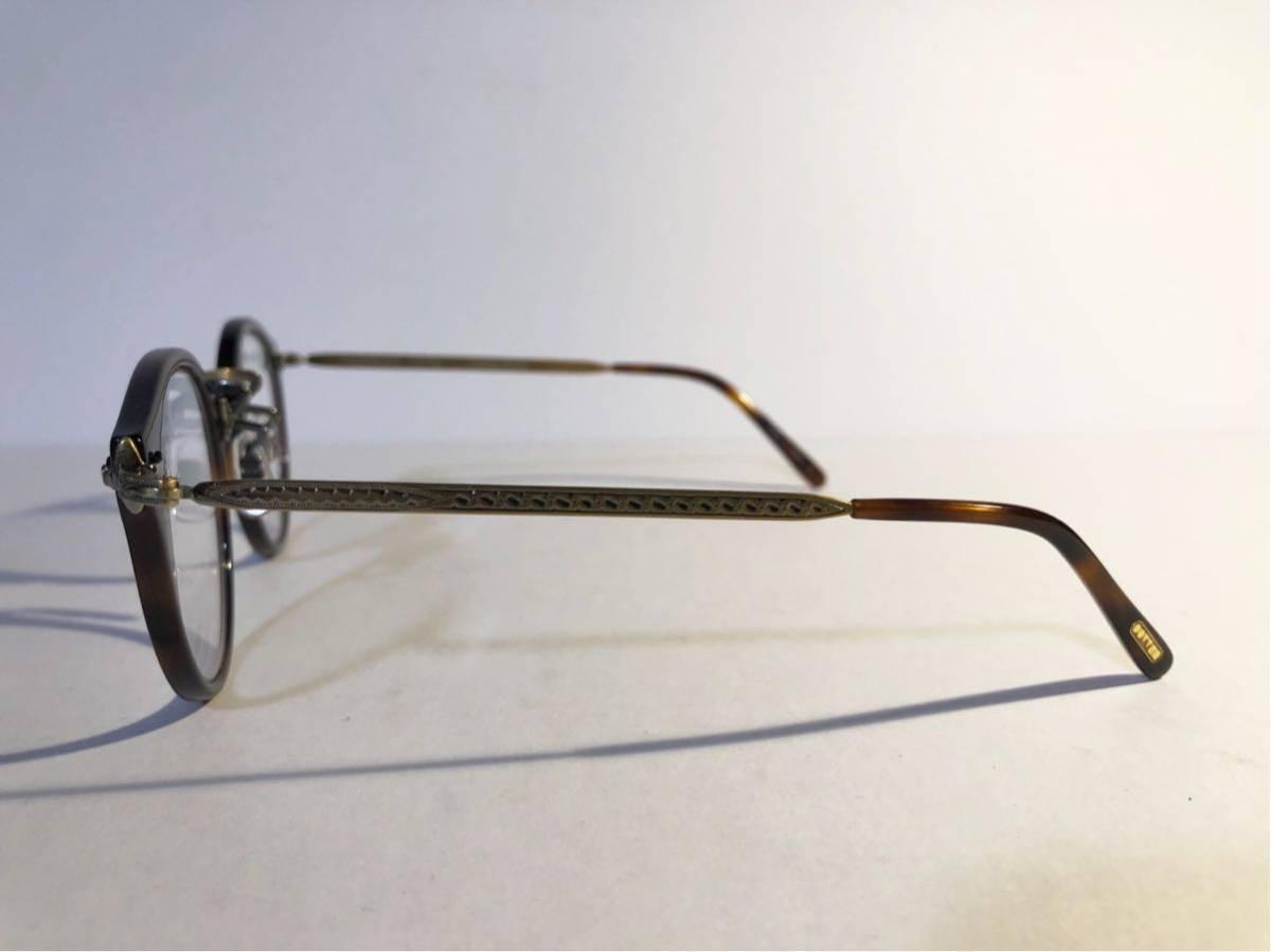 美品 正規OLIVER PEOPLEオリバーピープルズ OP-505 DM Limited Edition 雅 デミブラウン ボストン メガネ 丸眼鏡_画像3