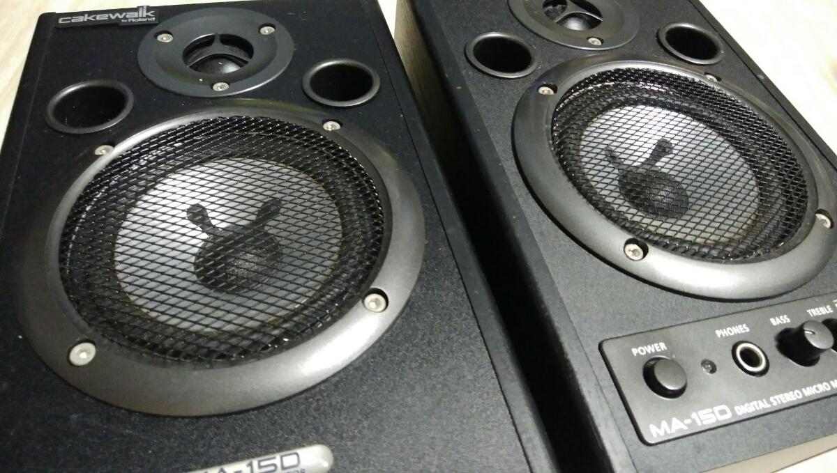 Roland MA-15D BK Stereo Micro Monitor Cakewalk ローランド エディロール ブラック スピーカー モニター_画像2